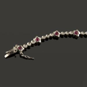 ref 2690 Pulsera de diamantes y rubíes