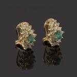 ref. S-209 Pendientes con esmeraldas y diamantes